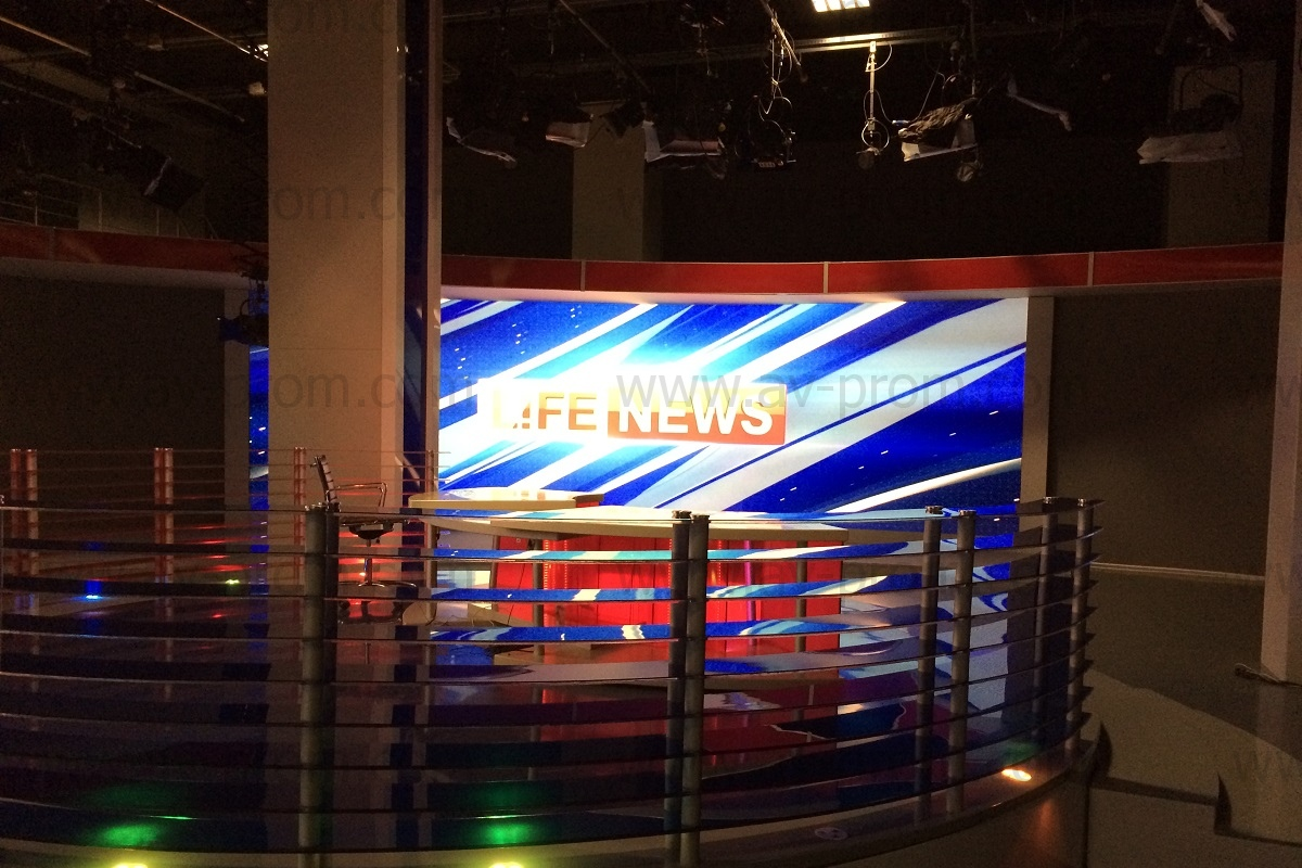 LIFE NEWS Channel Studio Videowall