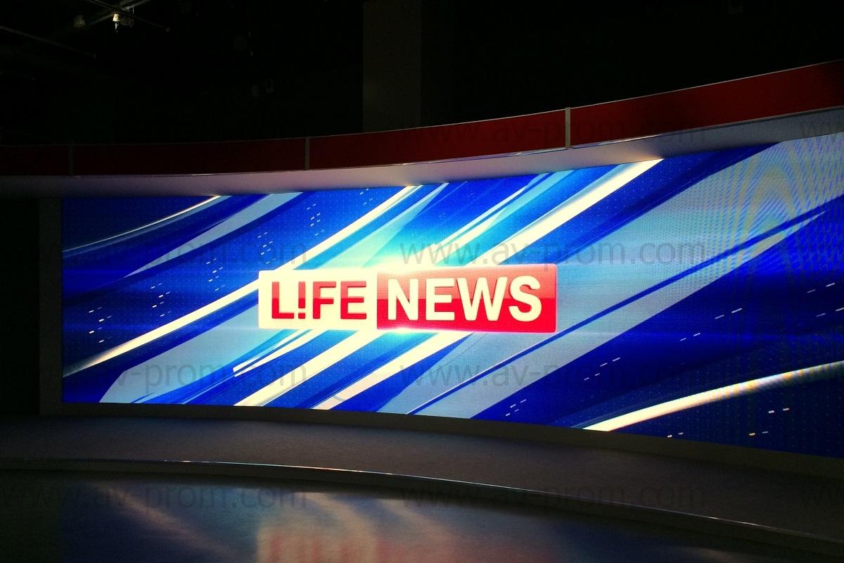 LIFE NEWS Channel Studio Videowall