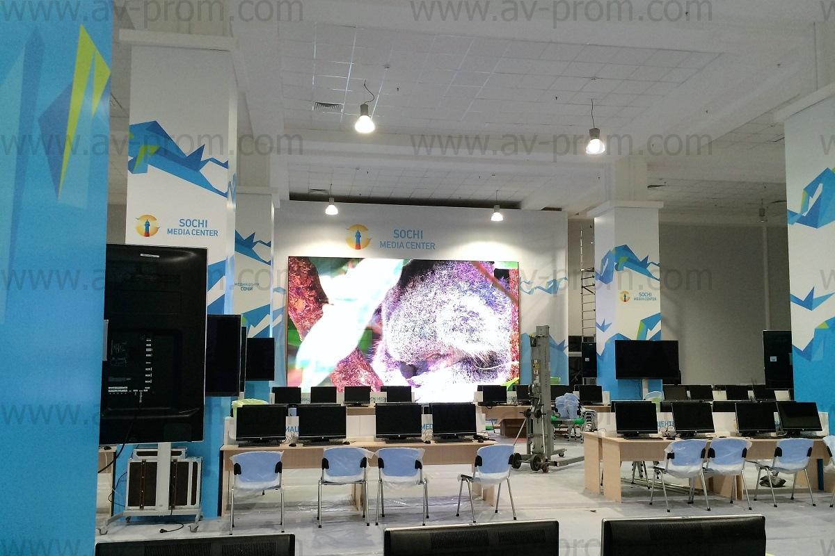 sochi olympic mediacenter videowalls