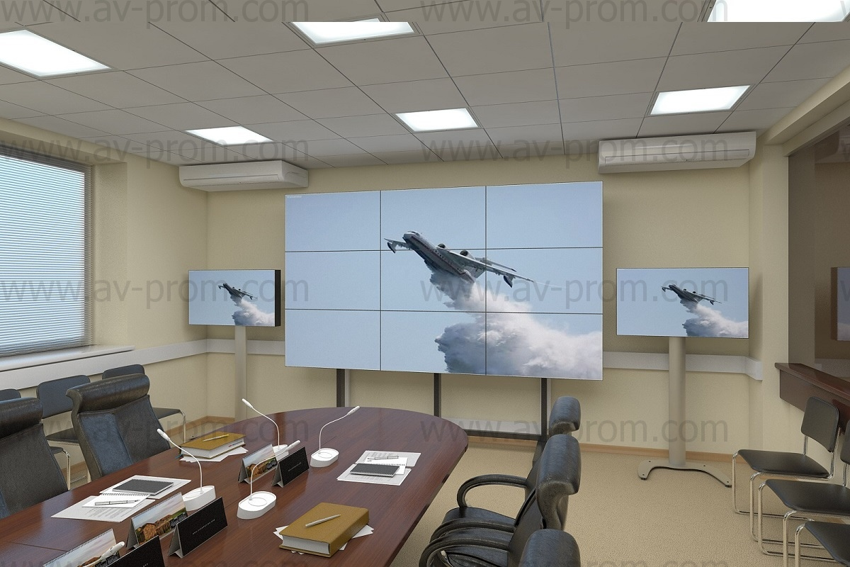 EMERCOM OF RUSSIA EDUCATION CENTER control room videowalls